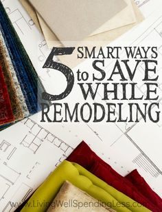 Let's face it--home improvement and remodeling projects can get pricey FAST. While some costs will always be inevitable, these 5 smart ways to save while remodeling can save you a bundle! via Living Well Spending Less