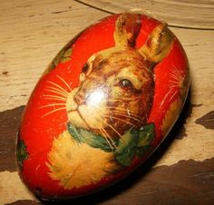 1940's Easter Egg candy container