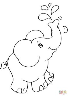 Cartoon Elephant coloring page from Elephants category. Select from 31983 printable crafts of cartoons, nature, animals, Bible and many more. Cartoon Coloring Pages, Animal Coloring Pages, Printable Coloring Pages, Colouring Pages, Coloring Pages For Kids, Free Coloring, Coloring Sheets, Adult Coloring, Elephant Quilt