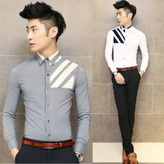 Cheap Casual Shirts, Buy Directly from China Suppliers: NOTE: All Men's Clothes and Pants is Asian Size, Not US/Europe Size. Pls leave message about your heig Stylish Boys, Stylish Shirts, Casual Shirts, African Clothing For Men, Mens Clothing Styles, Young Adult Fashion, Gents Shirts, Mens Designer Shirts, Indian Men Fashion