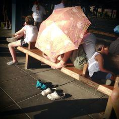 14 July 2013 - Stillwell Avenue subway station #brooklyn #nyc #coney #island #subway #sun #umbrella