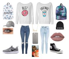 """""""Best Friends"""" by x0-samm-x0 on Polyvore featuring Topshop, New Look, Converse, Disney, Vans, Native Union, adidas Originals, Sydney Evan and Lime Crime"""