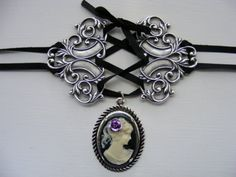 For inspiration only.  Cameo necklace, must attempt a knockoff!