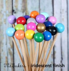 Princess Party Rock Candy Sticks Cake Pops by thebakersconfections