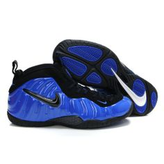 watch f129c a7e82 Nike Air Foamposite Pro blue and black basketball shoes