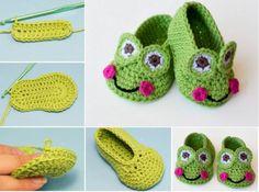 Frog Crochet Booties Free Pattern