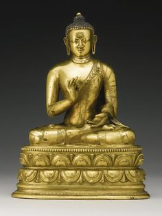 A GILT-BRONZE FIGURE OF BUDDHA MONGOLIA, ZANABAZAR SCHOOL, 18TH CENTURY