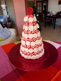 Tartas La Campanita. Christmas Sweet table: Peppermint Christmas Tree