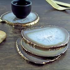 agate coasters - pretty and unique - little accents in decor