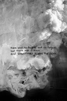 there was no forgive and no forget, but there was silecnce and sometimes it was the same #quotes