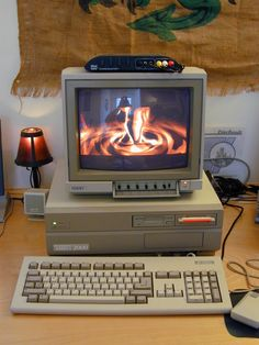 Amiga 2000 running a demo
