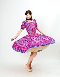 Vintage 1970s Party Dress  70s Summer Dress  by concettascloset, $42.00