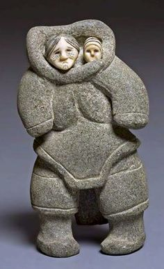Sheokjuk Oqutaq-  Canadian, 1920–1982 - Mother and Child, made in 1952.