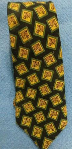 Polo Ralph Lauren Silk Neck Tie Hand Made Green Horses #PoloRalphLauren #NeckTie #mensfashion #eBay