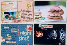 """""""Another couple of memories-on-a-postcard in my collection of Postcards from Guide Camp."""" by Miss Smith. A great, simple, idea combining scrapping + journaling."""