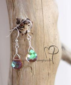 Swarovski Crystal Bridal Elegance Teardrop Earrings