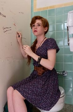 Sophia Lillis as Bev in It, 2017
