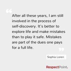Sophia Loren on having a full life