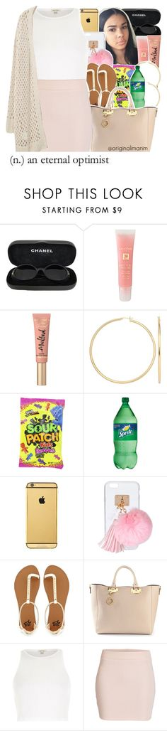"""""""Edited 08-13-2016."""" by theimanimo ❤ liked on Polyvore featuring Chanel, Lancôme, Too Faced Cosmetics, Goldgenie, Ashlyn'd, 2b bebe, Sophie Hulme, River Island, ONLY and Violeta by Mango"""