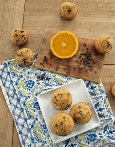 orange chocolate chip muffins - A healthy muffin recipe inspired by Ina's orange chocolate chunk cake.  These are my daughter's favorite breakfast and they go great in lunches too.