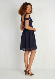 Bonne Jovial Dress in Navy. Flaunt a fancifully festive look by slipping into this navy-blue dress. #blue #prom #modcloth