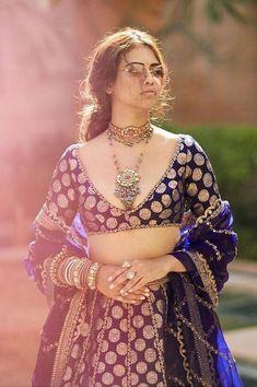 Sabyasachi Lehenga Bridal, Blue Lehenga, Indian Lehenga, Lehenga Choli, Benarsi Saree, Lehenga Blouse, Bollywood Saree, Bollywood Fashion, Dress Indian Style