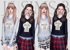 Bakery Print Sweater by JS Sims 3 - Sims 3 Downloads CC Caboodle