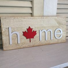 1600 wood plans - Canada HOME plaque with Canadian Maple Leaf Woodworking Drawings - Get A Lifetime Of Project Ideas and Inspiration! Carpentry Projects, Easy Woodworking Projects, Wood Projects, Canada Day, Canada Logo, Router Woodworking, Fine Woodworking, Woodworking Quotes, Woodworking Classes