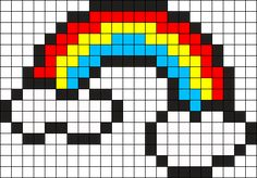 Kandi Patterns for Kandi Cuffs - Misc Pony Bead Patterns Pixel Art Templates, Perler Bead Templates, Perler Patterns, Kandi Patterns, Perler Bead Emoji, Diy Perler Beads, Perler Bead Art, Tiny Cross Stitch, Cross Stitch Designs