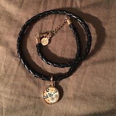 Vera Bradley leather wrap bracelet-Dogwood charm Excellent condition, never worn. Vera Bradley Jewelry Bracelets