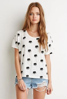 Tusked Elephant Print Tee | Forever 21 | #thelatest