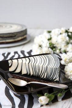 Zebra cake became a true baking phenomenon throughout Finland in spring It contains a candy taste which Finns love - salty liquorice called salmiakki. Beautiful Cakes, Amazing Cakes, Dessert Animals, Indian Cake, Oreo Biscuits, Food Platters, Vanilla Flavoring, Sweet Cakes, Cream Cake