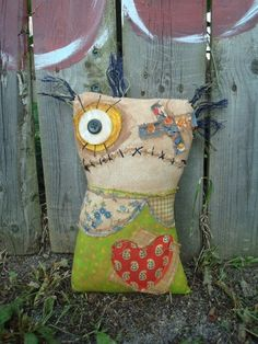 Handmade grungy rag doll MARTIZA by jennifoofoo on Etsy