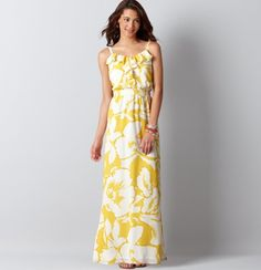 Hibiscus Print Maxi Dress