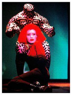 Keith Haring painting Grace Jones  1986