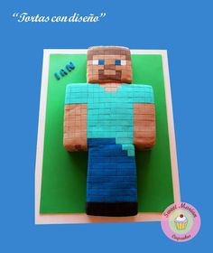 Sweet Marian: Torta de Minecraft en 3D! Pastel Minecraft, Legos, Minecraft Blocks, Xena Warrior Princess, Minecraft Birthday Party, Ideas Para Fiestas, Paw Patrol, Sweet, Party Ideas