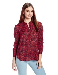 Juicy Couture Women's Printed Satin Henley Long Sleeve Shirt Henleys, Henley Shirts, Juicy Couture, Best Sellers, Long Sleeve Shirts, Leather Jacket, Satin, Prints, Jackets