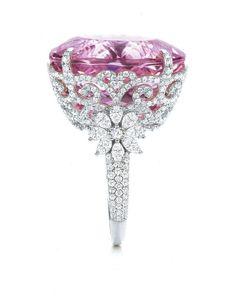 Tiffany And Co Kunzite And Diamond Ring. Woah