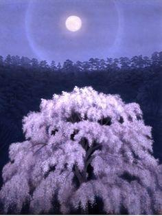 東山魁夷 花明り Kaii Higashiyama