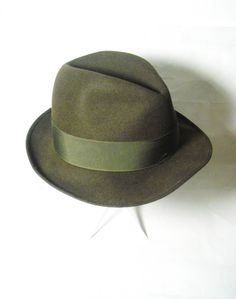 Vintage mens Borsalino fedora hat 1950s Mad Men by ArneckeVintage