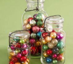 Jars of Shiny Delight - great idea for all those mini bulbs I have!