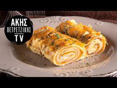 Κρέπες σουφλέ από τον Άκη Πετρετζίκη. Φτιάξτε το αγαπημένο μαμαδίστικο φαγητό, κρέπες με τυρί, ζαμπόν και κρέμα γάλακτος! Τέλειο γεύμα! Meat, Chicken, Cooking, Food, Youtube, Kitchen, Essen, Meals, Yemek