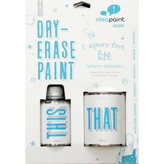 Dry erase paint  I WANT THIS!