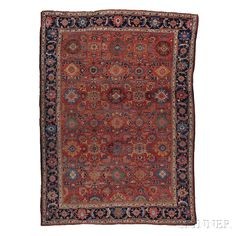 Sultanabad Carpet, West Persia, late 19th century,  12 ft. 3 in. x 8 ft. 7 in.    Skinner Auctioneers Sale 2752B