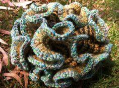 Hyperbolic Crochet Crochet Ruffle, Freeform Crochet, Crochet Art, Burlap Wreath, Fiber Art, Coral, Plane, Content, String Art
