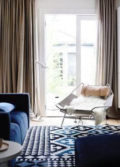 blue velvet sofa-Justin-and-Jeanne-Roebert
