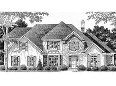 Eplans French Country House Plan - Four Bedroom French Country - 2858 Square Feet and 4 Bedrooms from Eplans - House Plan Code HWEPL60913