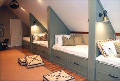 Attic bedroom addition for the grandkids!