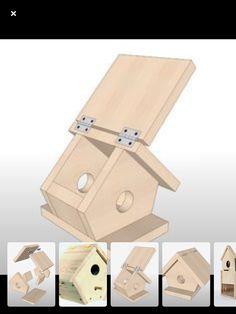 Bird House Plans 216454325827075231 - لانه چوبی Source by Bird House Plans Free, Bird House Kits, Homemade Bird Houses, Homemade Bird Feeders, Scrap Wood Projects, Woodworking Projects, Diy Projects, Bird House Feeder, Diy Bird Feeder