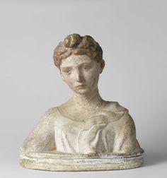 Borstbeeld van een jonge vrouw, Jacopo della Quercia, 1400 - 1440